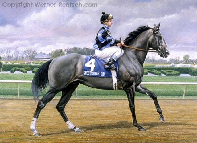 equine artist werner rentsch horse racing art sporting art horse racing paintings
